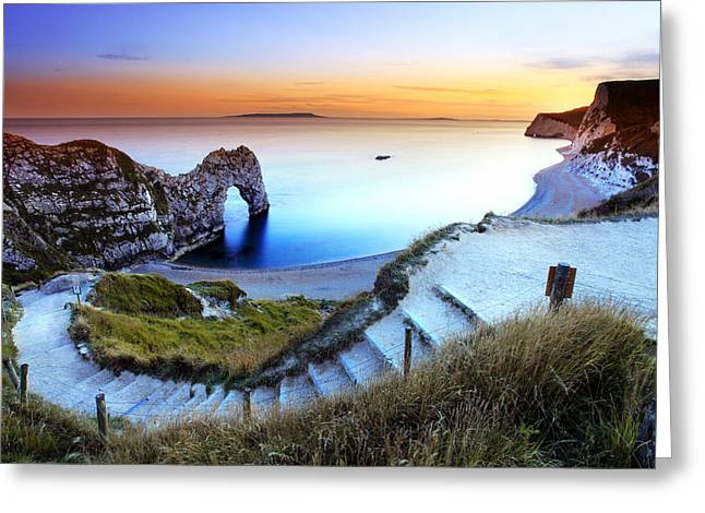 Purchase Greeting Cards - Durdle Door Greeting Card by Ollie Taylor