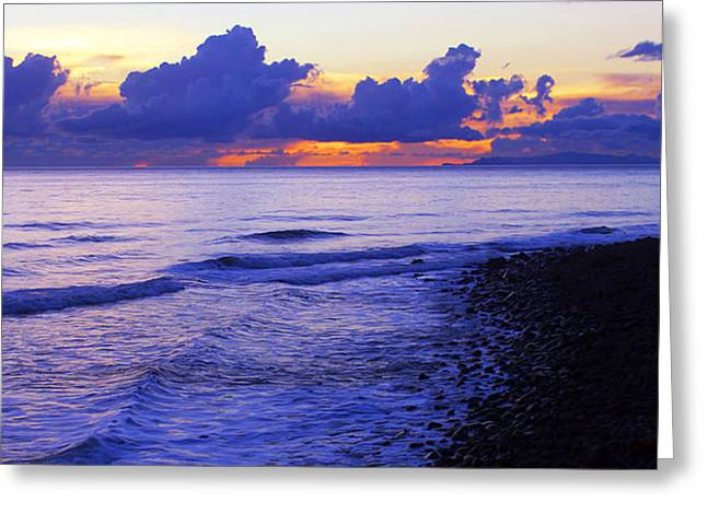 Pch Greeting Cards - Dusk at County Line Greeting Card by Ron Regalado