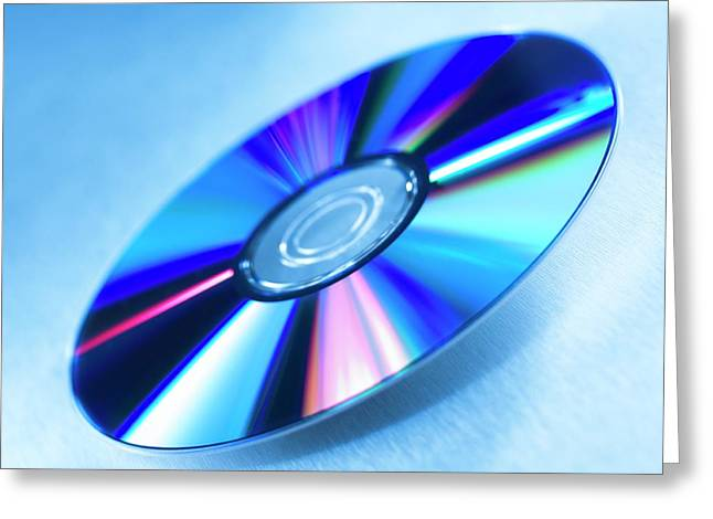 Dvds Greeting Card by Science Photo Library