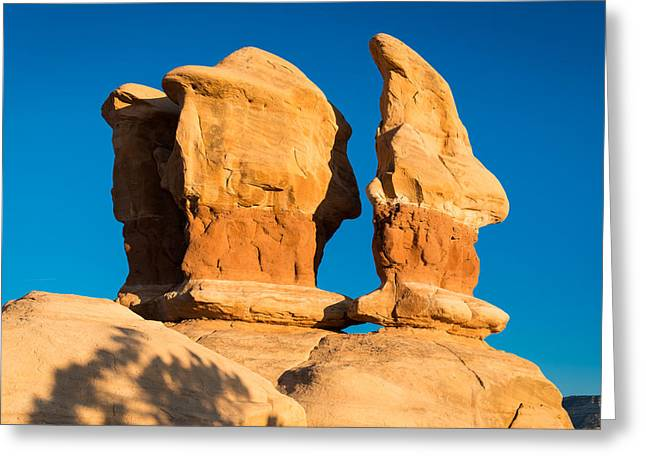Best Sellers -  - Holes In Sandstone Greeting Cards - Dwarf Hat Greeting Card by Michael Blanchette