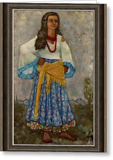 Gypsy Greeting Cards - Dzhalma Greeting Card by Pemaro