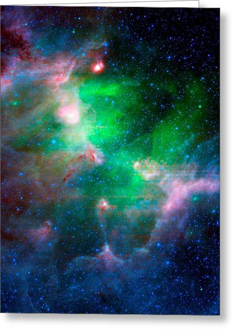 Mccoy Mixed Media Greeting Cards - Eagle Nebula Infrared View Greeting Card by L Brown