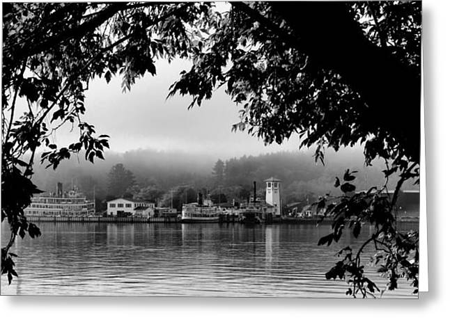 Steamboat Greeting Cards - Early Morning on Lake George Greeting Card by David Patterson