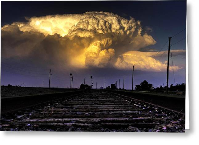 Thunderstorm Greeting Cards - Eastbound Updraft Greeting Card by Zach  Roberts