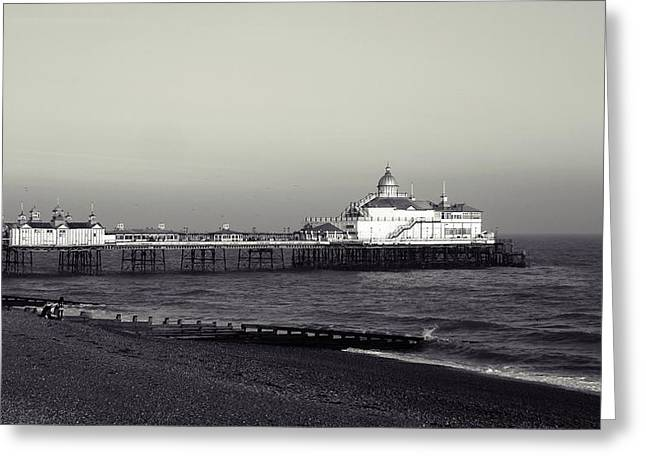 Superstructure Greeting Cards - Eastbourne pier Greeting Card by Sharon Lisa Clarke