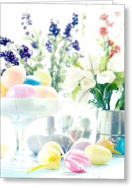 Easter Flowers Greeting Cards - Easter Greeting Card by HD Connelly
