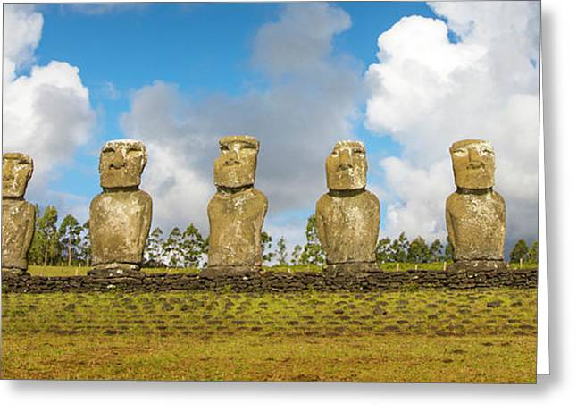 Easter Island, Chile Greeting Card by Janet Muir