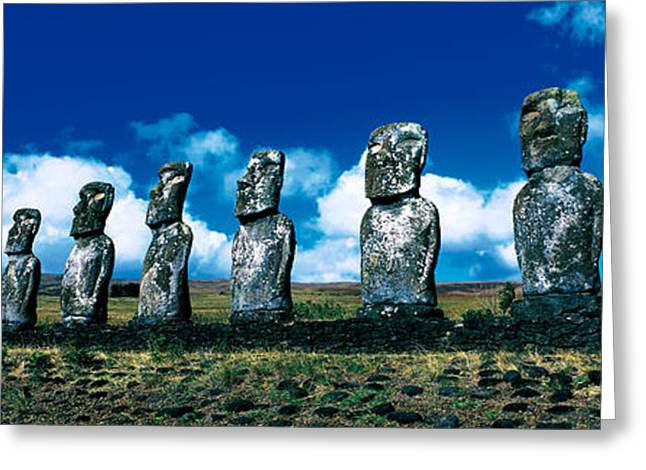 Same Greeting Cards - Easter Island Chile Greeting Card by Panoramic Images