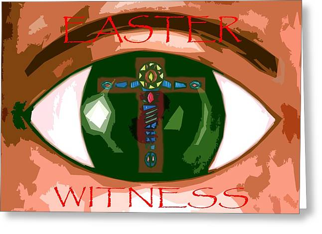 Religious Mixed Media Greeting Cards - Easter 67 Greeting Card by Patrick J Murphy