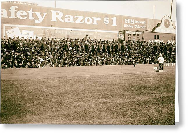 Ebbets Field Greeting Cards - Ebbets Field - Home of the Brooklyn Robins 1919 Greeting Card by Mountain Dreams