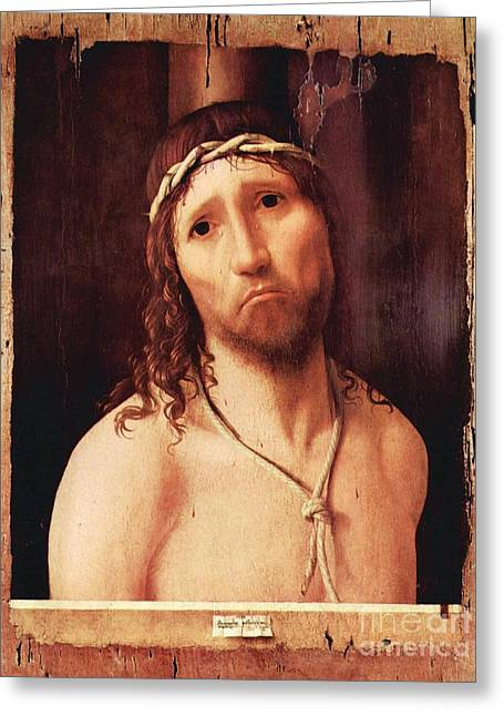 Ecce Paintings Greeting Cards - Ecce Homo Greeting Card by Pg Reproductions