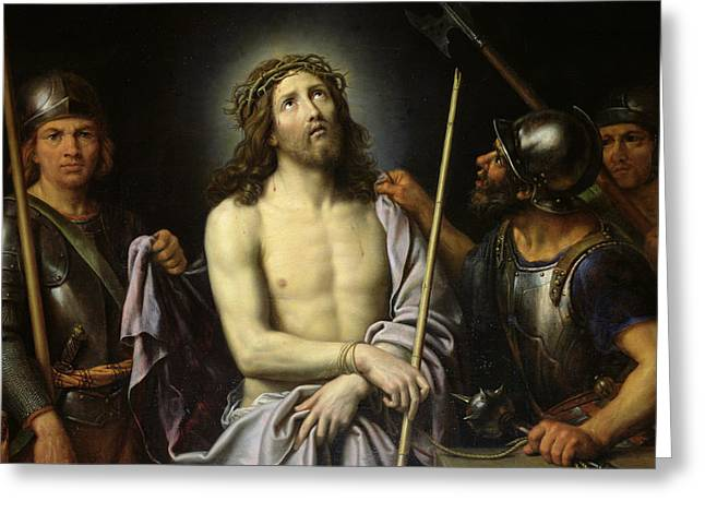 Mocking Greeting Cards - Ecce Homo Greeting Card by Pierre Mignard