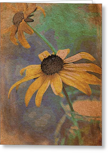 Mixed Media Photo Greeting Cards - Echinacea Greeting Card by Bonnie Bruno