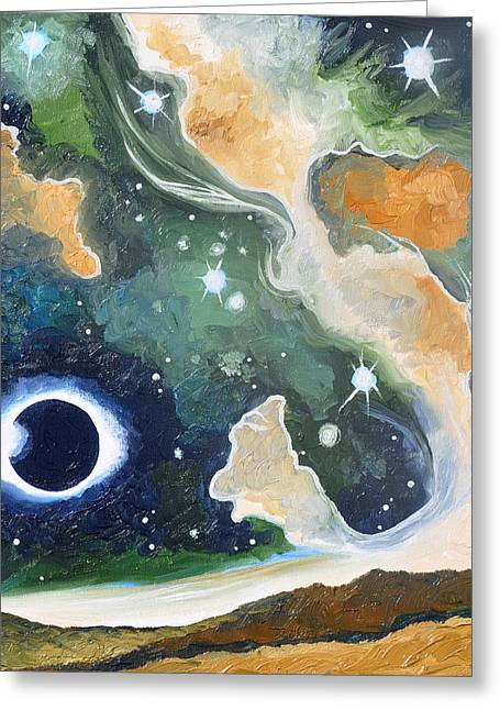 Solar Eclipse Paintings Greeting Cards - Eclipse II Greeting Card by Cedar Lee