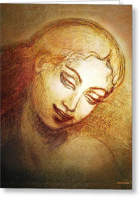 Ecstasy Greeting Card by Ananda Vdovic