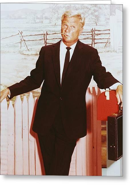 1960 Greeting Cards - Eddie Albert in Green Acres  Greeting Card by Silver Screen