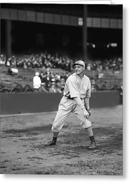 Baseball Game Greeting Cards - Eddie Rommel Greeting Card by Retro Images Archive