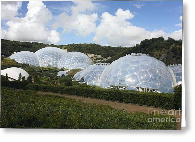 21st Greeting Cards - Eden Project Biomes Greeting Card by Victor de Schwanberg