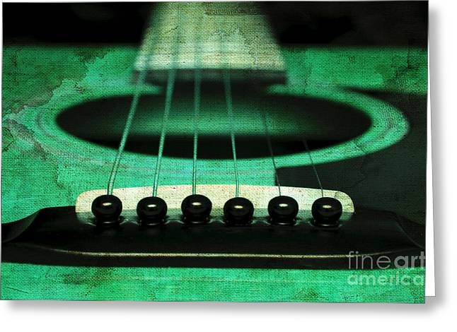 Edgy Abstract Eclectic Guitar 15 Greeting Card by Andee Design