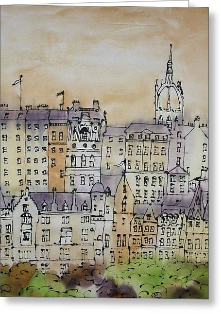Neutral Colours Greeting Cards - Edinburgh Scotland Greeting Card by Hazel Millington