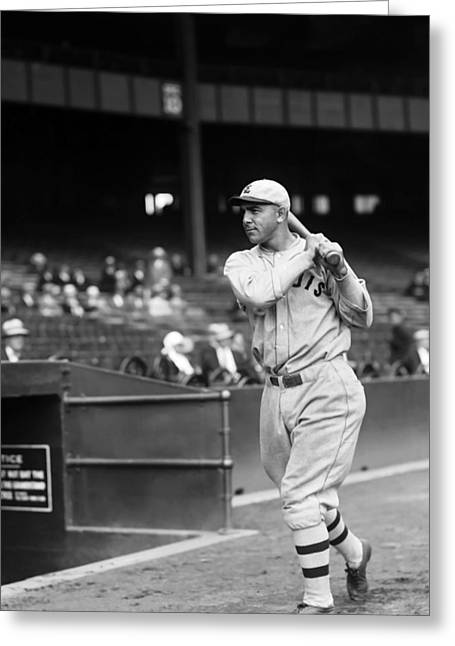 Baseball Game Greeting Cards - Edmund J. Bing Miller Greeting Card by Retro Images Archive