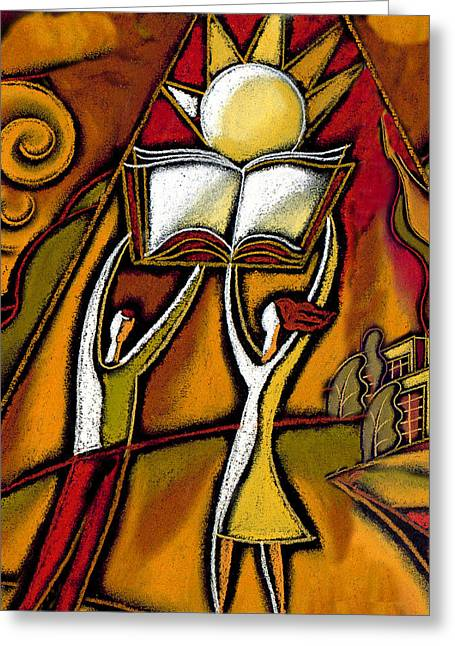 Mind Paintings Greeting Cards - Education Greeting Card by Leon Zernitsky