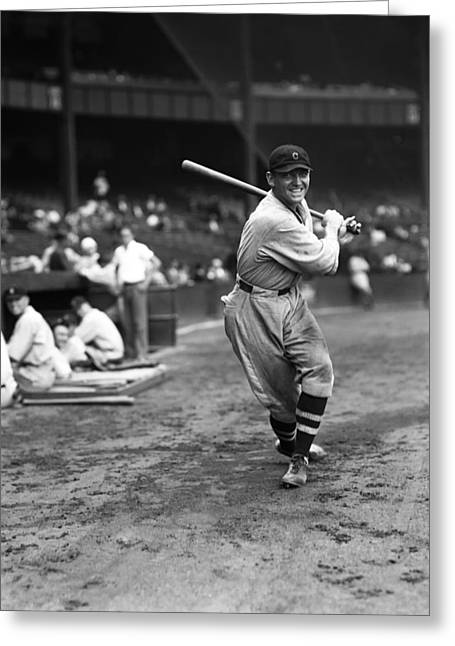 Baseball Bat Greeting Cards - Edward C. Ed Morgan Greeting Card by Retro Images Archive