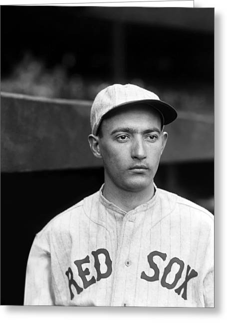 Boston Red Sox Greeting Cards - Edward F. Ed Durham Greeting Card by Retro Images Archive