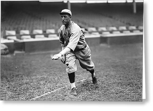 Baseball Game Greeting Cards - Edward S. Eddie Plank Greeting Card by Retro Images Archive