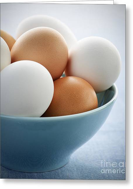 Egg Greeting Cards - Eggs in bowl Greeting Card by Elena Elisseeva