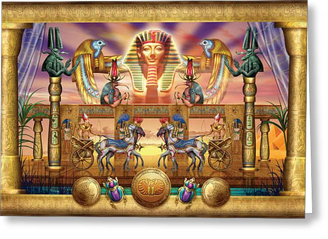 Hieroglyph Greeting Cards - Egyptian Greeting Card by Ciro Marchetti