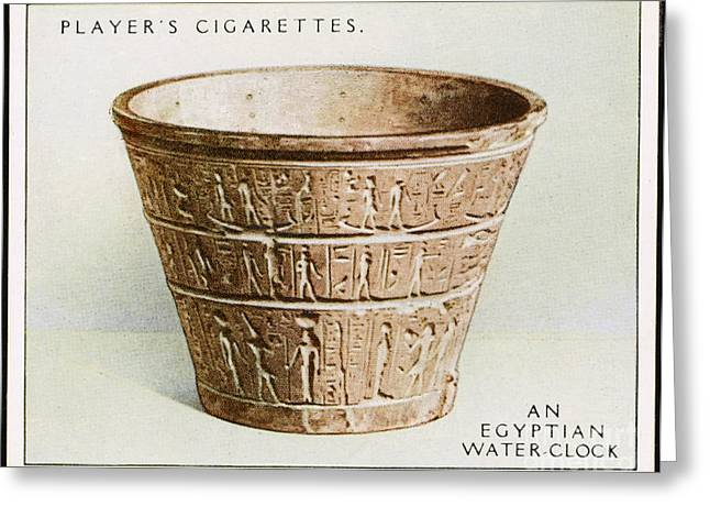 1400 Greeting Cards - Egyptian Water Clock Greeting Card by Mary Evans