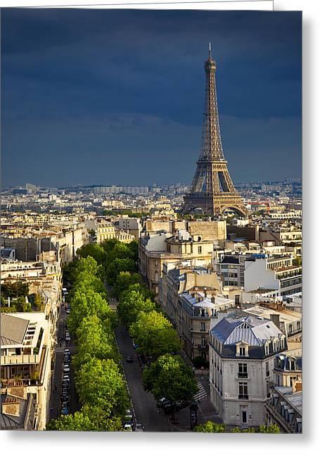 Eifel Greeting Cards - Eiffel Tower Greeting Card by Brian Jannsen