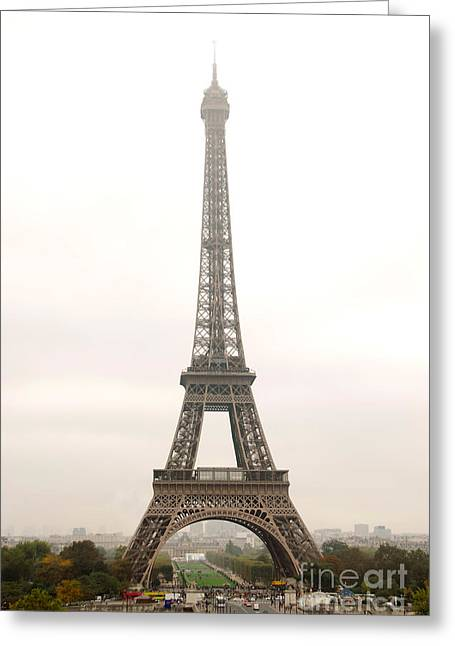 Foggy Day Greeting Cards - Eiffel tower Greeting Card by Elena Elisseeva