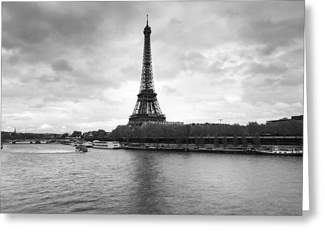 Victorian Style Greeting Cards - Eiffel Tower From Pont De Bir-hakeim Greeting Card by Panoramic Images