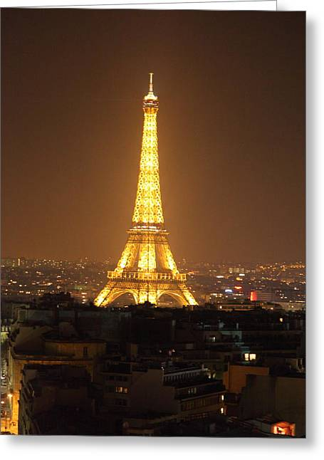 Powerful Greeting Cards - Eiffel Tower - Paris France - 01131 Greeting Card by DC Photographer