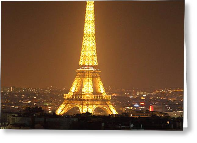 Eiffel Tower - Paris France - 01131 Greeting Card by DC Photographer