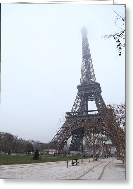 Powerful Greeting Cards - Eiffel Tower - Paris France - 011313 Greeting Card by DC Photographer
