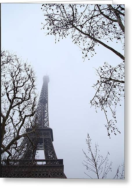 Powerful Greeting Cards - Eiffel Tower - Paris France - 011319 Greeting Card by DC Photographer