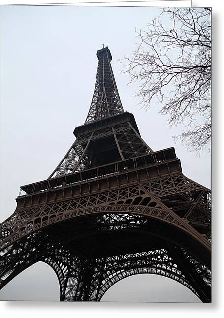Antique Photographs Greeting Cards - Eiffel Tower - Paris France - 01132 Greeting Card by DC Photographer
