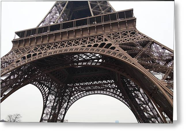 Architektur Greeting Cards - Eiffel Tower - Paris France - 01133 Greeting Card by DC Photographer