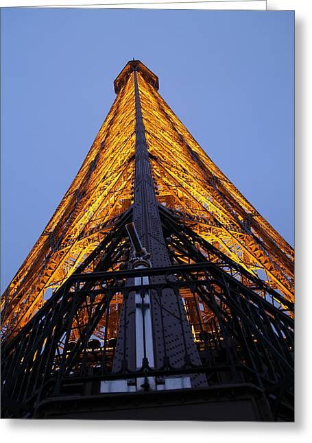 Eifel-turm Greeting Cards - Eiffel Tower - Paris France - 01135 Greeting Card by DC Photographer
