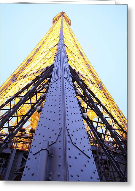 Perspective Greeting Cards - Eiffel Tower - Paris France - 01138 Greeting Card by DC Photographer