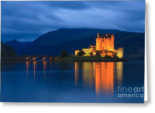 After Sunset Greeting Cards - Eilean Donan Castle - Scotland Greeting Card by Henk Meijer Photography