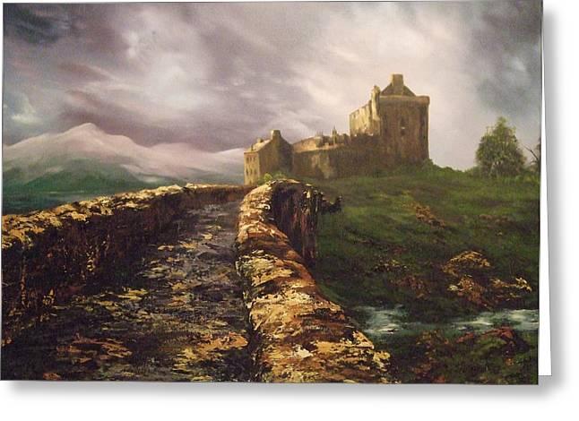 Jean Walker Greeting Cards - Eilean Donan Castle Scotland Greeting Card by Jean Walker