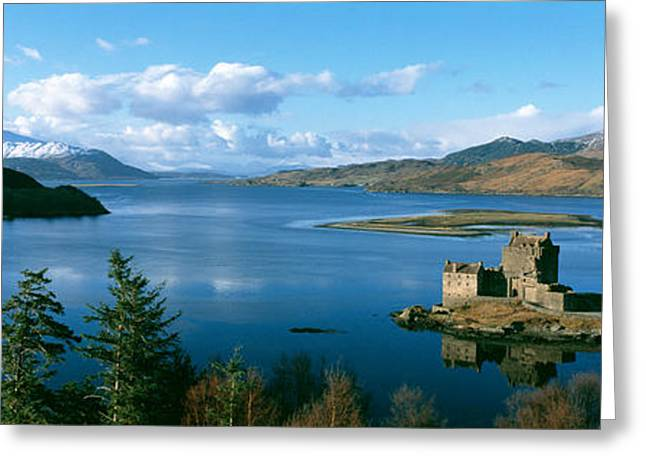 Historic Home Greeting Cards - Eilean Donan Castle Scotland Greeting Card by Panoramic Images