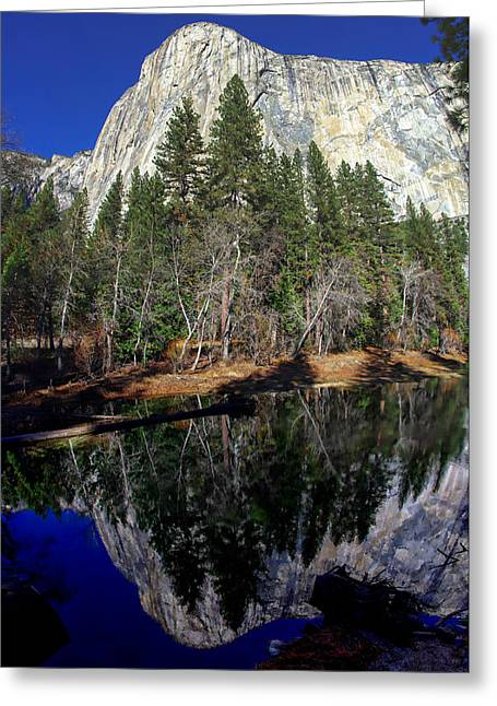 Mariposa County Greeting Cards - El Capitan Reflection Greeting Card by Scott McGuire