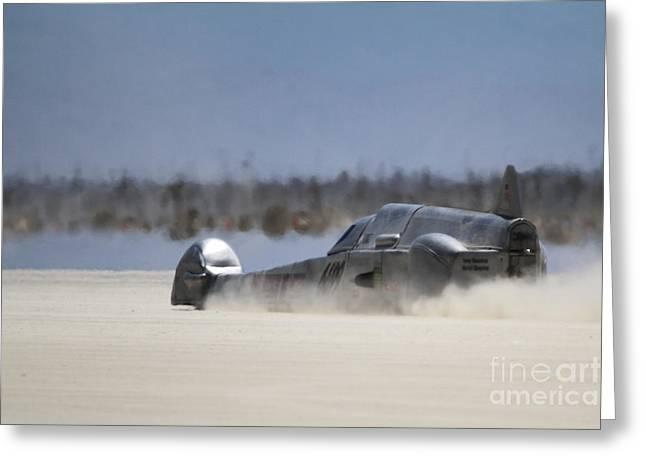 Salt Flats Racer Greeting Cards - El Mirage 5 Greeting Card by Dennis Hedberg