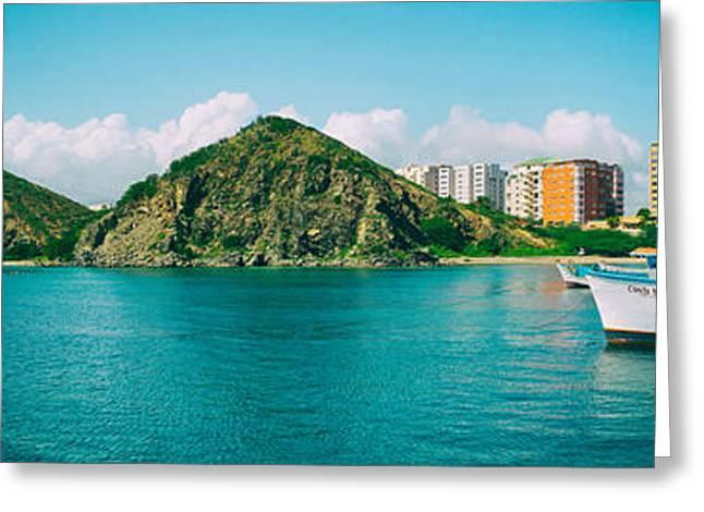 El Morro Greeting Cards - El Morro Bay Panorama - Margarita Island  Greeting Card by Mountain Dreams