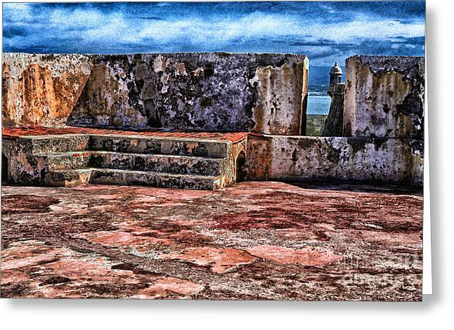 Old San Juan Greeting Cards - El Morro Fortress Old San Juan Greeting Card by Thomas R Fletcher